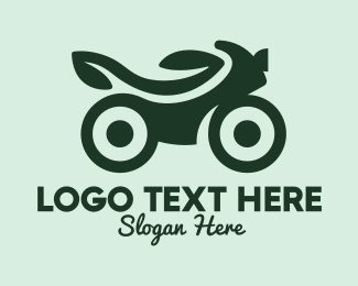 Motor Bike - Green Eco Bike logo design