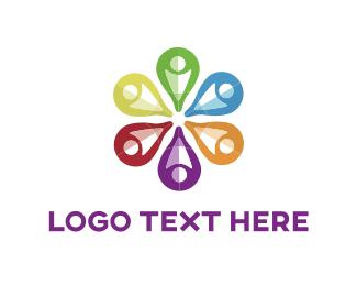 Donation Center - Flower Point logo design