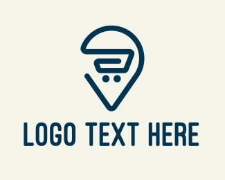 Marketplace - Grocery Cart Delivery logo design