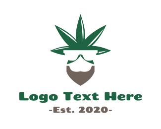 Herb - Cannabis Bearded Man logo design