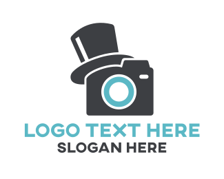 Vlogger - Top Hat Photography logo design