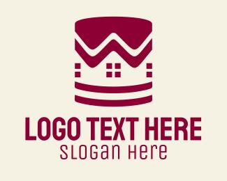 Paint - House Paint Bucket  logo design