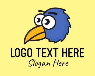 Cartoon - Blue Bird Cartoon logo design