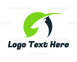 Antelope - Green Black Gazelle logo design