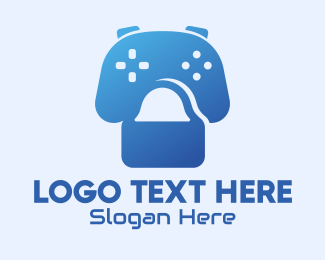 Game Controller - Gaming Shopping Bag logo design