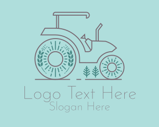Rice Farm Tractor  Logo