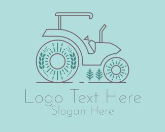 Agriculture Farm Tractor  logo design