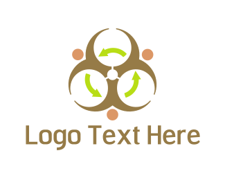 Toxic - Radioactive Recycling logo design