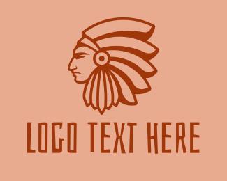 Native American - Native American Profile logo design