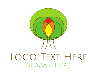 Fire - Fire Tree logo design