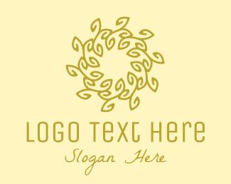 Soul - Gold Organic Wreath logo design