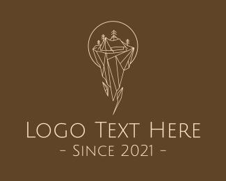 Picnic - Camping Tent Outdoors logo design
