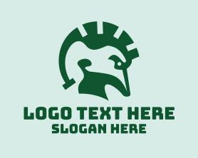 Punk - Spartan Lizard logo design