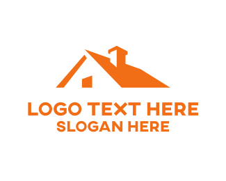 Residential Construction - Orange Roof logo design