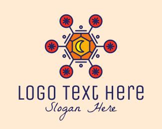 Fortune Teller - Cosmic Astrology Moon logo design
