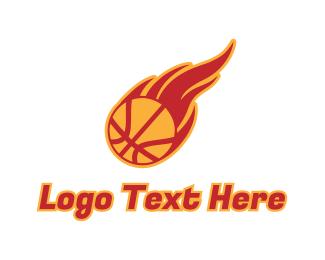 """Basketball Fire"" by LogoBrainstorm"