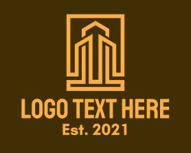 Real Estate - City Building Frame logo design