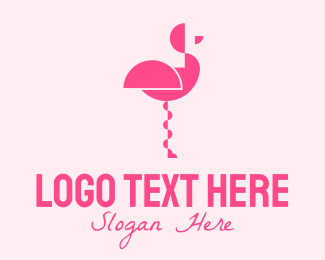 Delicatessen - Black Flamingo logo design