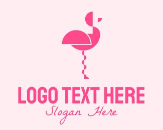 Flamingo - Pink Abstract Flamingo logo design