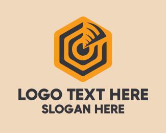 Sonar - Hexagonal Sonar logo design