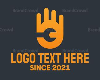 Hand - Wrench Hand logo design