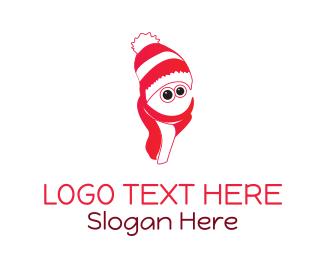 Red Hat - Christmas Character logo design