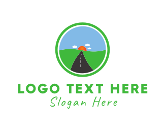 Highway - Sun Road logo design