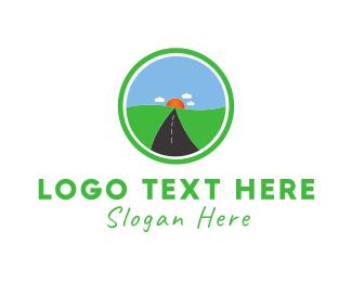Road - Sun Road logo design