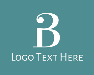 """Traditional Letter B"" by BrandCrowd"