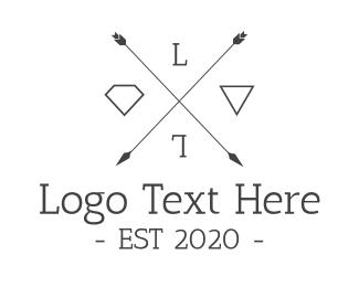 Symbols - Hipster Arrow logo design