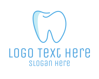 Teeth - Dental Blue Tooth Dentist logo design
