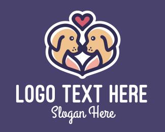 Puppy - Cute Puppy Dog Love logo design