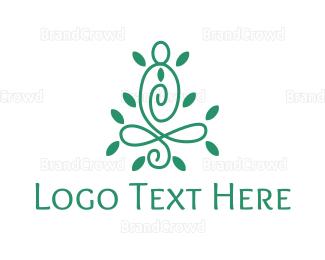 Therapeutic - Elegant Meditation Outline logo design