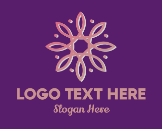 Feminine - Pink Abstract Flower logo design