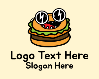 Cool Sunglasses Burger Logo