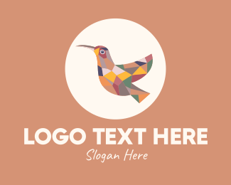 Woodpecker - Multicolor Bird logo design
