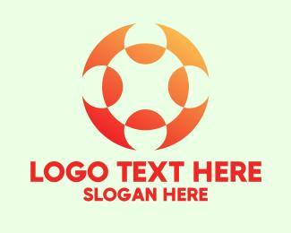 It - Orange Letter X Software Startup  logo design