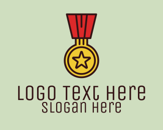 Achievement - Military Medal Award  logo design