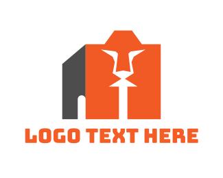 Box - Lion Box logo design