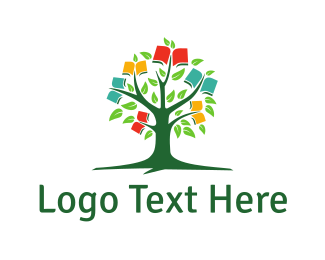 Bookstore - Book Tree logo design