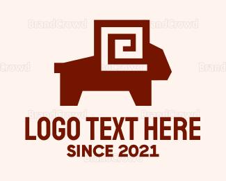 Sheep - Maze Ram logo design