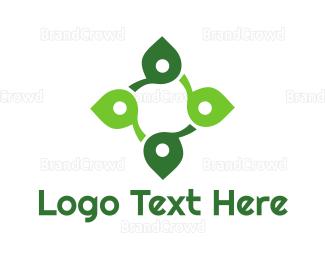 Organic Food - Leaf Cross logo design