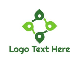 Cross - Leaf Wellness Cross logo design