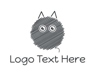 Sketch - Round Sketch Cat logo design