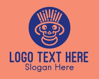 Happy Minimalist Skull Logo