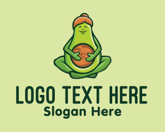 Butter Fruit - Healthy Pregnant Avocado  logo design