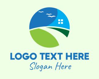 Village - Real Estate Village logo design