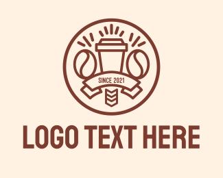 Minimalist - Coffee Cup Banner logo design