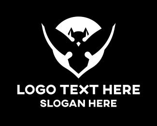 Modern Minimalist Bat Logo