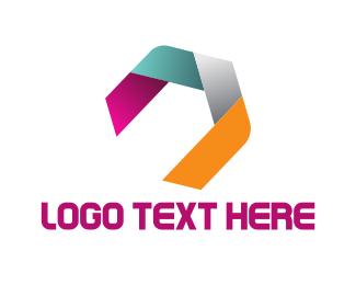 Hexagonal Ribbon Logo